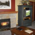 Fireplace in 1 BR unit