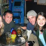 Sarah and I at the hostel bar