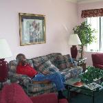 Daddy in Livingroom Sleep after trip to Lady & Sons in Sav. GA