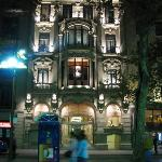 Hotel front seen from Las Ramblas
