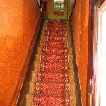 Steep staircase to 2nd floor