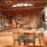 Outdoor dining at Dos Rios