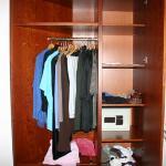 Wardrobe with safe