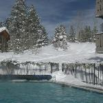 The heated pool, looking uphill