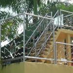 Stairs to waterslide