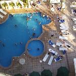 The pool from he 12th floor