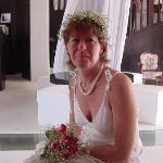 My bride in the lobby