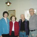 President Jimmy Carter and wife Roselyn with us at Mom's Kitchen in Plains, GE