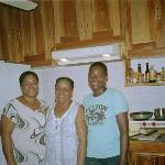 Ms Jean, Ms Sonia, and Indiana-some of the great staff at Coral Cove
