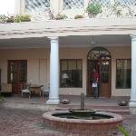 The wide veranda