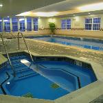 Indoor whirlpool spa and pool