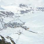 Looking down onto Pas de las Casa from Top of Red Run