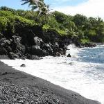 Black Sand Beach Stop on Road to Hana