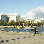 View of part of Limassol from the Pier