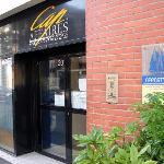Appart City front door - easy to miss