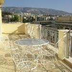 Our balcony & stunning view on Zeus' Temple