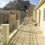Gorgeous view from the balcony on the Acropolis