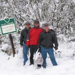 The guys on our walk to Charles Mitchell's winery