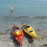 Convenient Sea Kayaking with Cliffs Boats