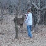 Can you believe the deer came right up to him?
