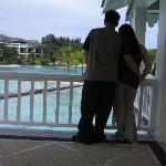 One of our Lagoon View Room balcony with a great view of the resort.