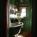 bathroom, caboose