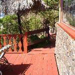view of entryway to deck & room