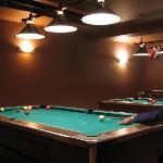 The Pool Tables in the Sports Bar
