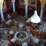 The hotel lobby/restaurant