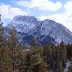 Rundle Mountain from our balcony