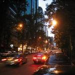 Valiasr Avenue outside hotel