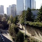 View of Freeway Park & Convention Center access