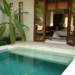 Outside our room - Private Pool!