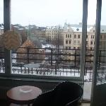 Balcony overlooking Mariatorget Square