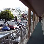 This is the front of the motel facing Lombard St
