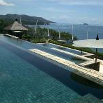 View of pools with infinity edge and ocean