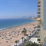 Benidorm Beach from 7th Floor