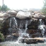 The patio waterfall!