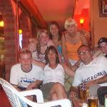 me n my family at the swan bar
