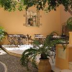 Casa Delfino's pretty courtyard