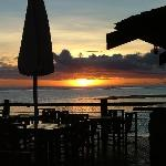 sunset at the bar grill