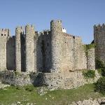 Obidos castle keep as seen from another wall.