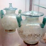 Glass funeral urns from 200 BC
