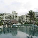 A view of the resort from the front