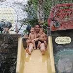 One of the small slides on the Pirate Ship