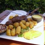 anticucho de corazón (peruvian typical dish)