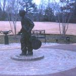Young Elvis bronze statue
