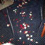 A path of rose petals!