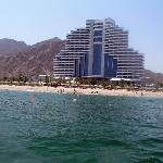 the hotel from the dive boat