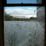 The bathroom window